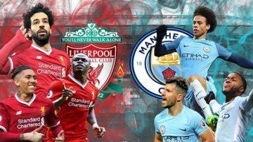 Upphitun fyrir leik Manchester City vs Liverpool um góðgerðaskjöldin.