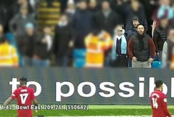 CCTV footage that saw City fan convicted of making racist gestures